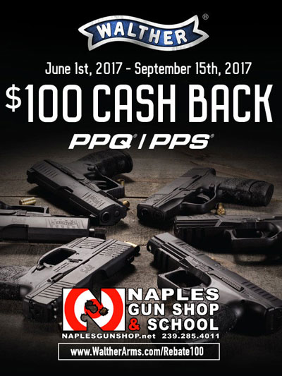 REBATES on Walther Arms from Naples Gun School